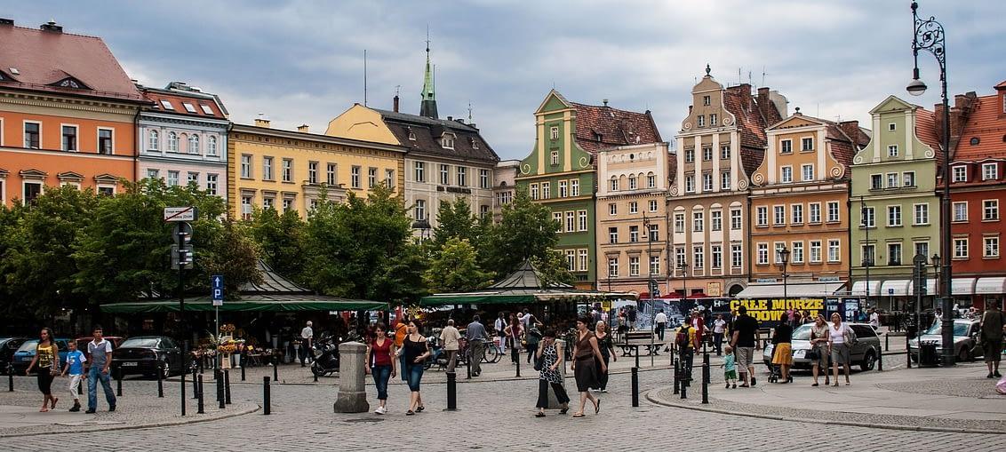Kawiarnia na rynku we Wrocławiu